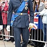 Prince William was dapper in his uniform.