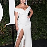 Ashley Also Wore a Slitted Off-the-Shoulder Gown to the Business of Fashion Gala