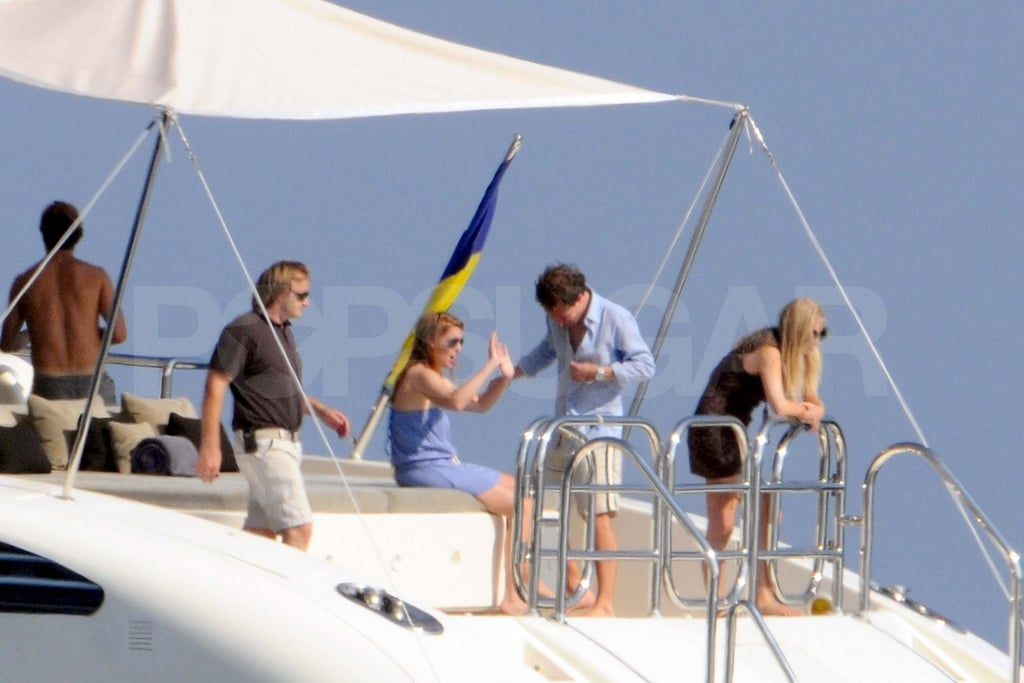 Princess Beatrice and Dave Clark on a yacht.