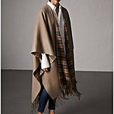 Burberry Reversible Vintage Check Cashmere Wool Poncho
