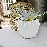 Bloomingville Round Fluted Ceramic Flower Pot