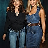 It was all about denim for Tina and Bey when they stopped by MTV's TRL back in 2005.