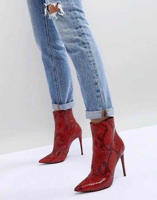 Shop Red Snakeskin Boots Like Emrata's