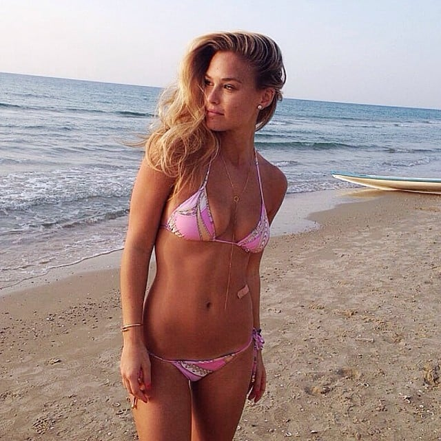 Bar Refaeli looked like the perfect beach bum. Source: Instagram user barrefaeli