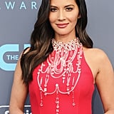 Who Needs a Necklace When You Have Olivia Munn's Dazzling Red Carpet Dress?