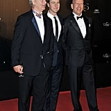 Bill Murray, Edward Norton, and Bruce Willis laughed together at the Cannes Film Festival opening night dinner.