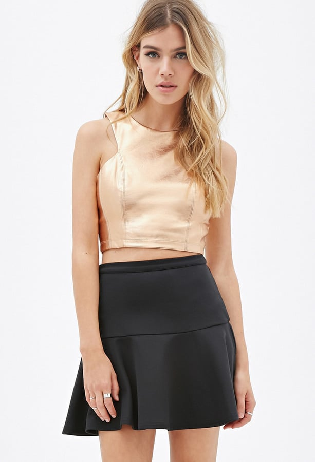 Forever 21 Metallic Faux Leather Top