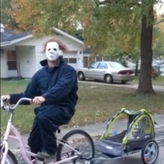 Video of Dad Riding His Bike Dressed as Michael Myers
