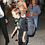 Kate Hudson and her boys touched down at LAX.