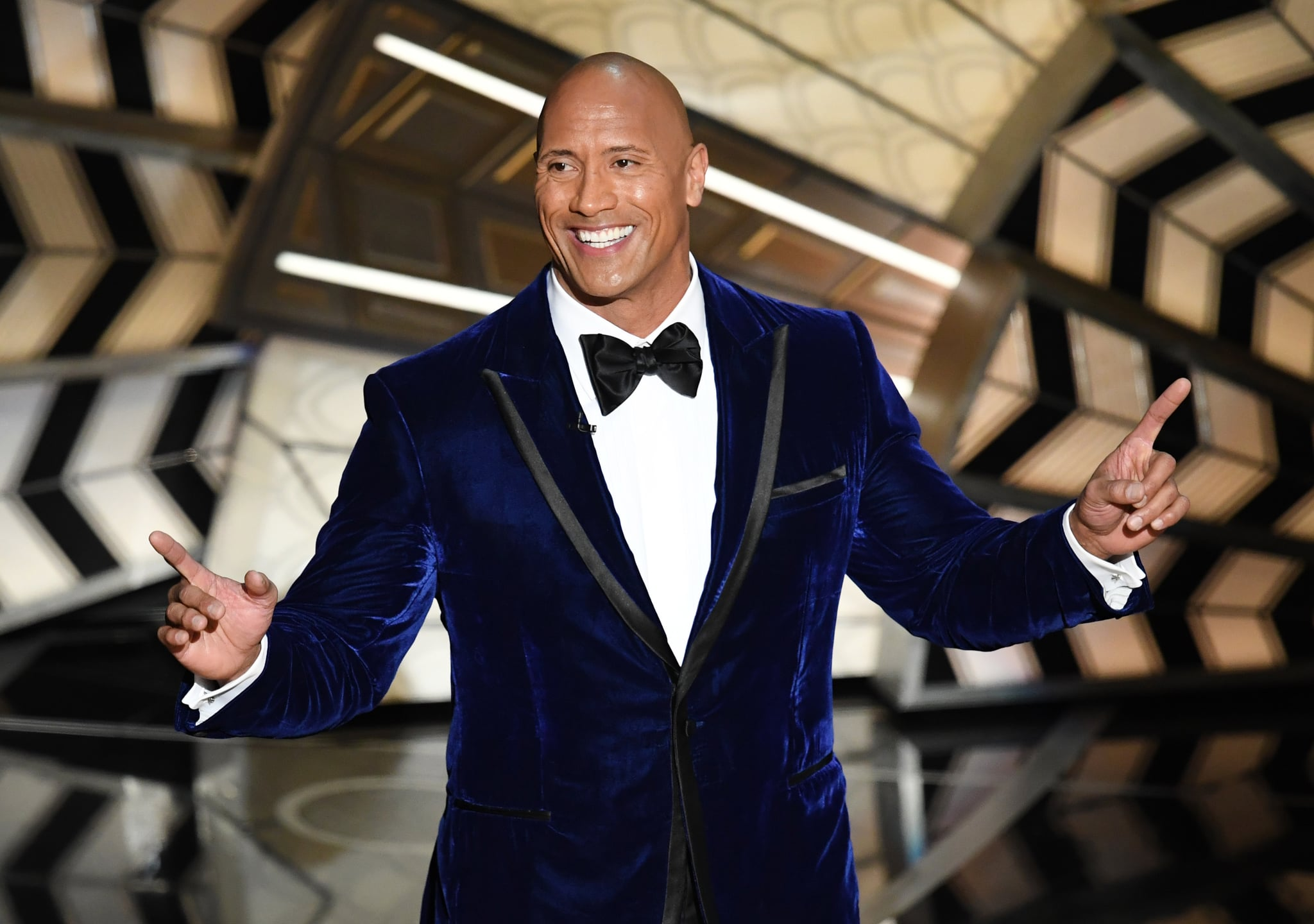 HOLLYWOOD, CA - FEBRUARY 26:  Actor Dwayne Johnson onstage during the 89th Annual Academy Awards at Hollywood & Highland Center on February 26, 2017 in Hollywood, California.  (Photo by Kevin Winter/Getty Images)