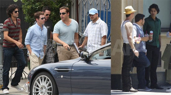 Adrian Grenier and the Entourage Cast Film in Los Angeles