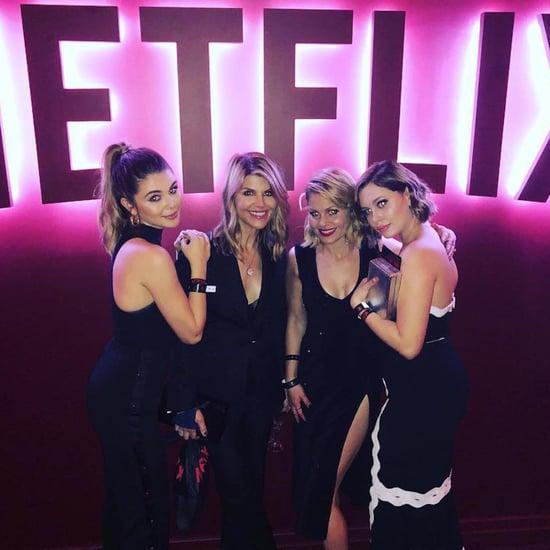 Lori Laughlin and Candace Cameron Bure 2018 Golden Globes