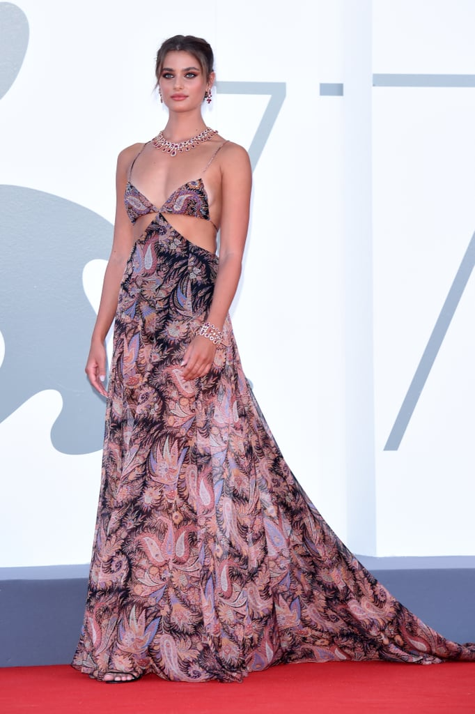 Taylor Hill wore Etro for the Lacci red carpet.