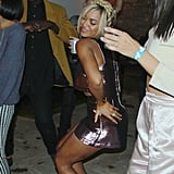 Beyoncé dropped it low during Solange's Fashion Week party in February 2014.