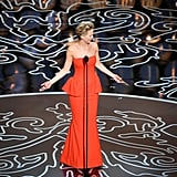 Jennifer Lawrence questioned why people were laughing at her as she took the stage.