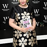 Lena Dunham continued her book signing tour on Wednesday in London.