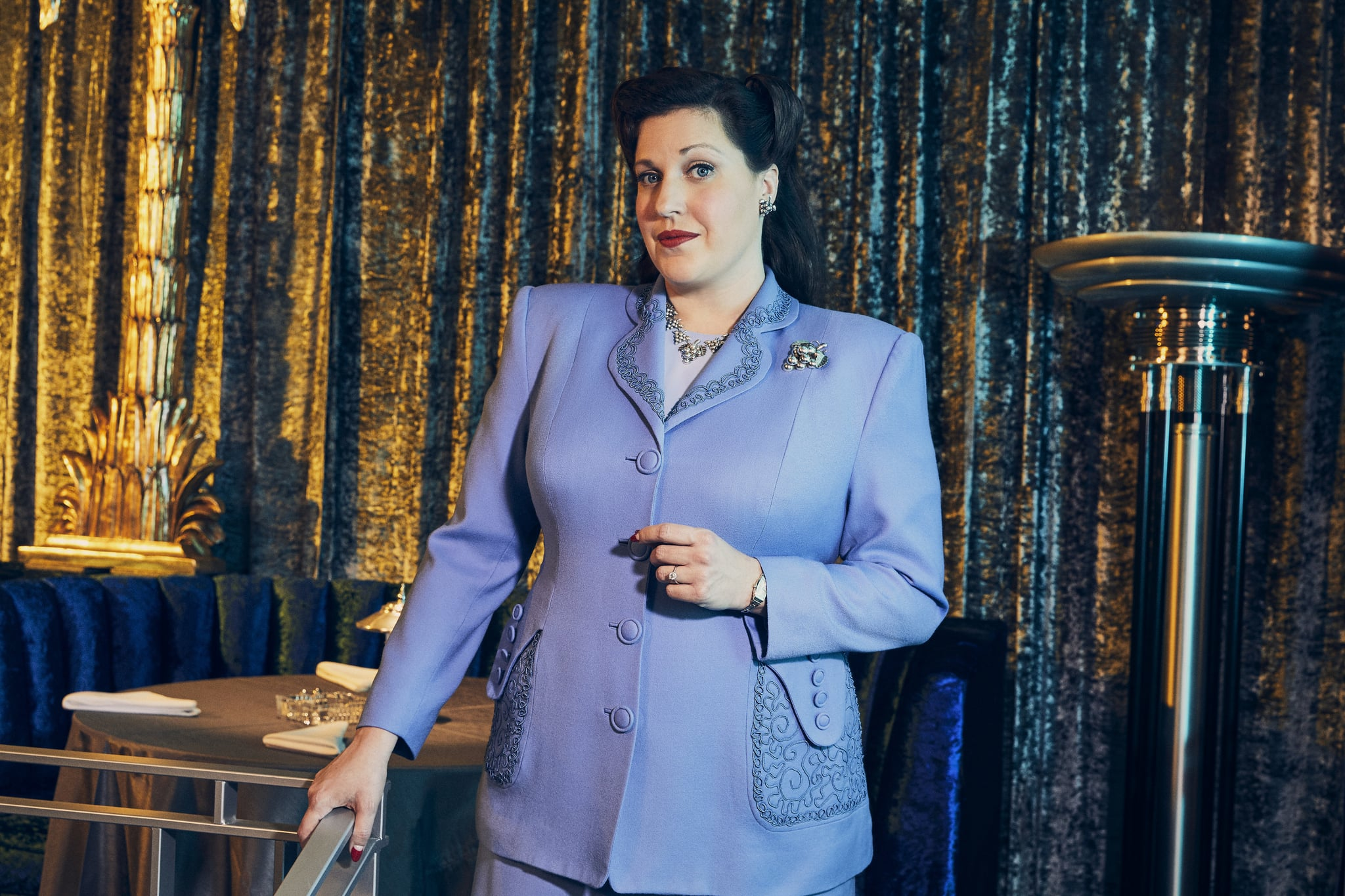 Pictured: Allison Tolman as Alma of the Paramount+ series WHY WOMEN KILL Photo Cr: Sarah Coulter/ ©2021 Paramount+, Inc. All Rights Reserved.