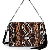 AllSaints Miki Snake Embossed Leather Shoulder Bag