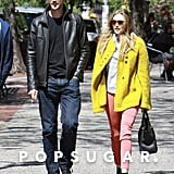 Elizabeth Olsen and Boyd Holbrook walked in NYC on Tuesday.