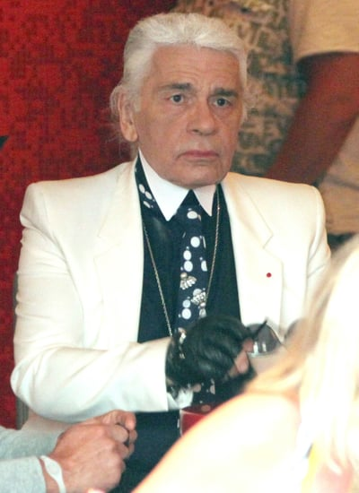 Karl Lagerfeld Without Sunglasses [Pictures]