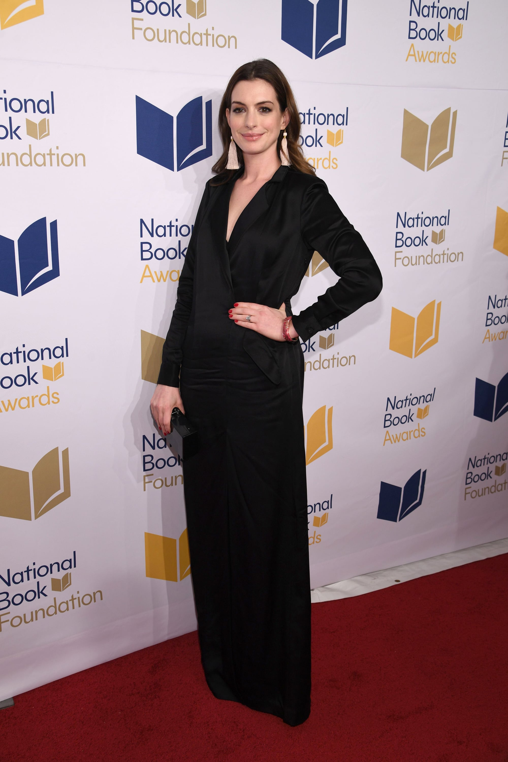 NEW YORK, NEW YORK - NOVEMBER 15: Anne Hathaway attends the 68th National Book Awards at Cipriani Wall Street on November 15, 2017 in New York City. (Photo by Dimitrios Kambouris/Getty Images)