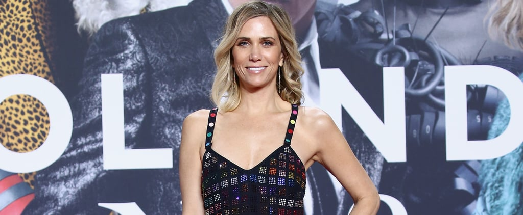 Kristen Wiig Wearing Rainbow Rosie Assoulin Dress