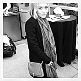 Ashley Olsen gave a glimpse at the latest handbag for Elizabeth and James's Nordstrom collection. Source: Instagram user elizandjames