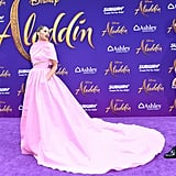 Mena Massoud and Naomi Scott at the Aladdin Premiere 2019