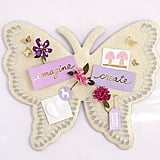Pottery Barn Kids Butterfly Shaped Linen Pinboard