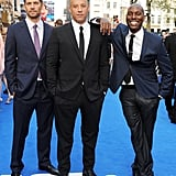 Paul suited up alongside Vin Diesel and Tyrese Gibson for the London premiere of Fast & Furious 6 in May 2013.