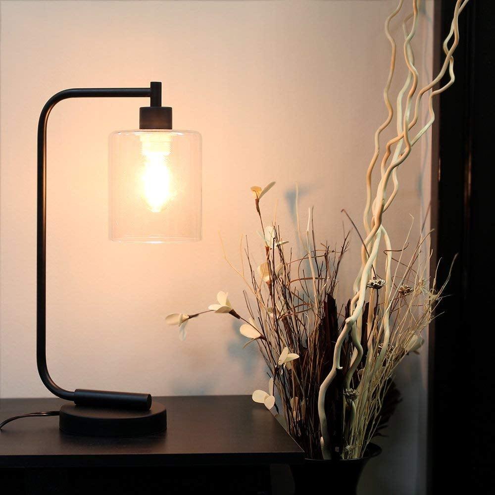 Simple Designs Industrial Iron Desk Lantern Lamp