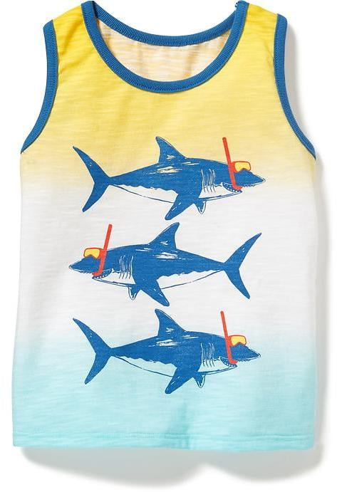 Shark Graphic Ombré Tank
