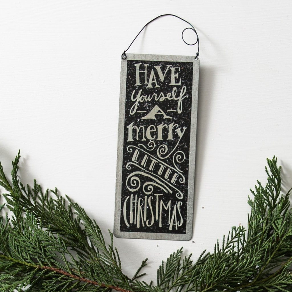 Merry Little Tin Sign ($8)