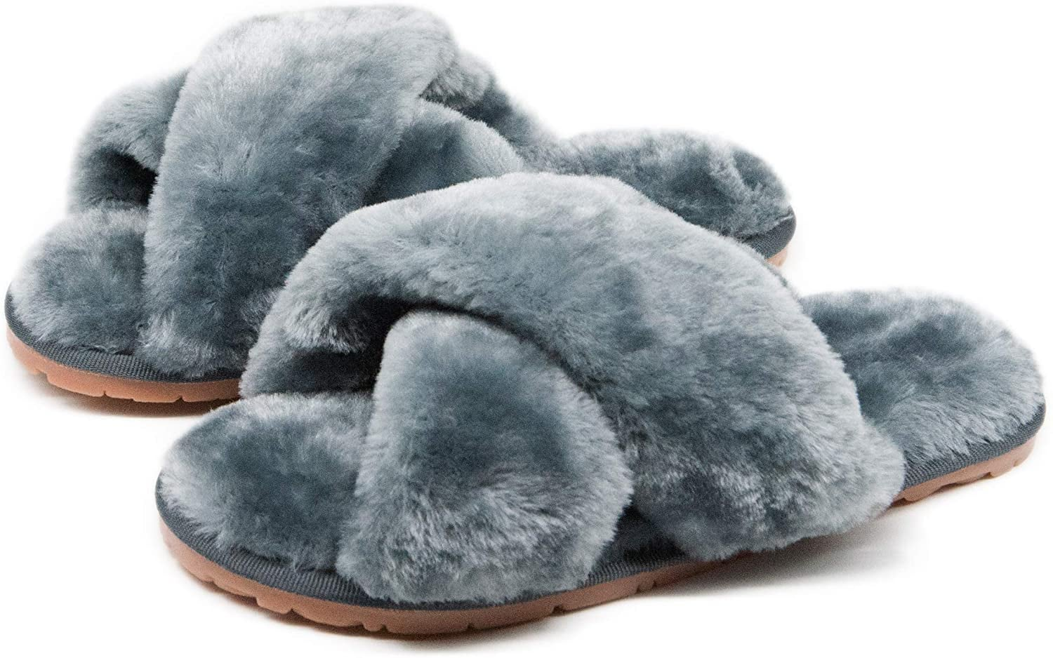 Fuzzy Fluffy Furry Fur Slippers | The