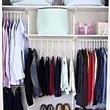 There should be enough room in a closet for two people's belongings, and more.