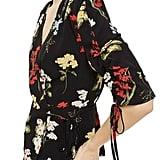 Topshop Floral Wrap Blouse