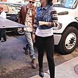 Katy Perry and John Mayer made their way to a restaurant in NYC.