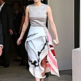 Jennifer Lawrence stepped out in a svelte ensemble on Saturday.