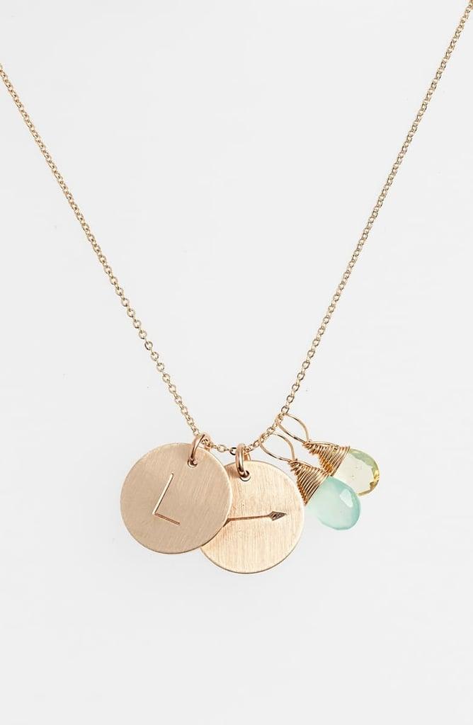 Merida: Nashelle Gold Arrow Initial Necklace