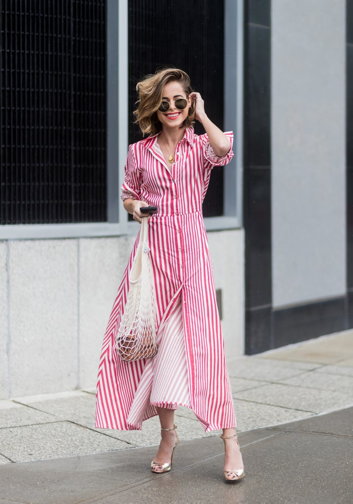 Opt For a Classic Summer Piece Like a Striped Shirtdress