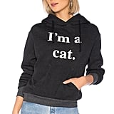 Wildfox Couture Cat Hoodie in Clean Black