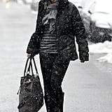 Sandra Bullock Steps Out in Snowy NYC Following NYE With Ryan Reynolds