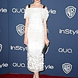Jaime King rocked a sweet white dress.