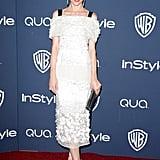 Jaime King rocked a sweet white dress.