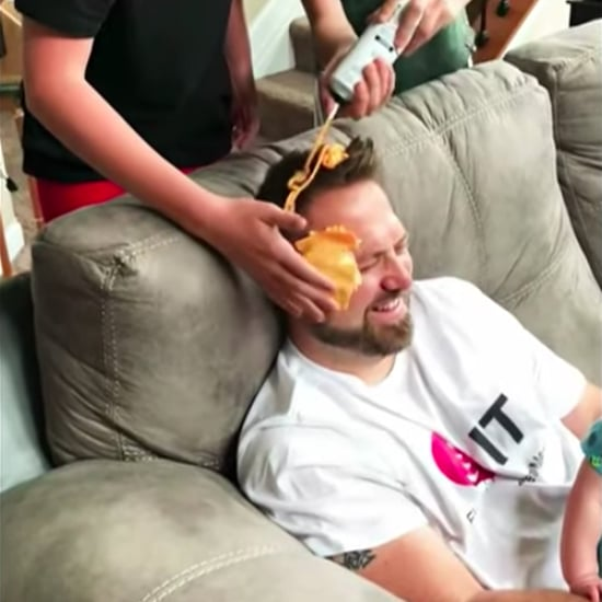 Jimmy Kimmel Father's Day Cheese Toss Challenge Video