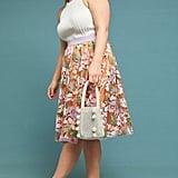 Pixilated Tulle Midi Skirt