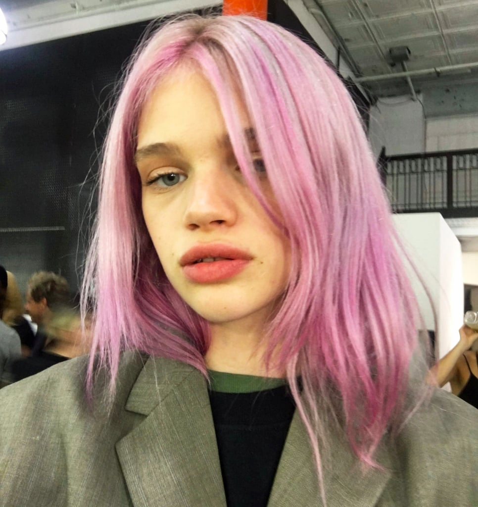 Rose Quartz Hair Color Trend | Alexander Wang Pink Hair