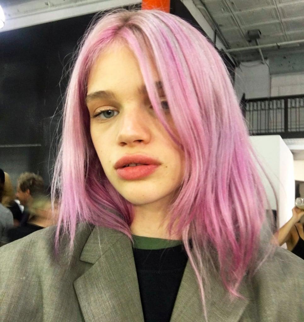 Rose Quartz Hair Colour Trend   Alexander Wang Pink Hair