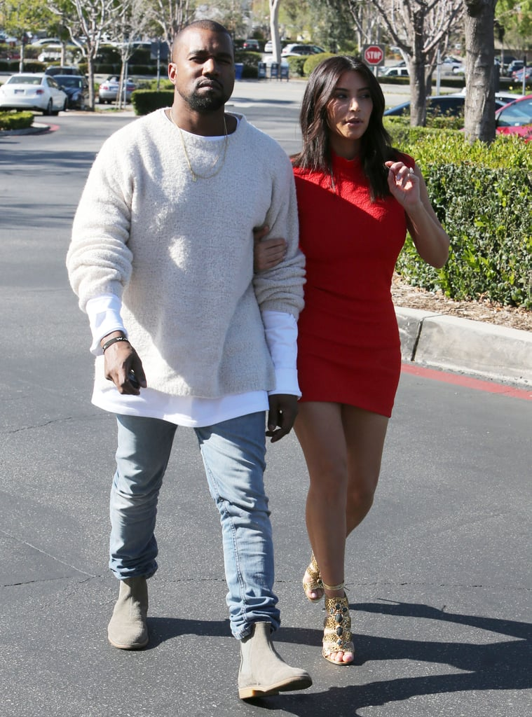 Kim Kardashian Has a Red-Hot Day With Kanye West