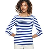 POPSUGAR Striped Boatneck Top